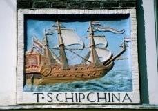 Herman Souer (1931-2015) -T Schip China- Postkaart