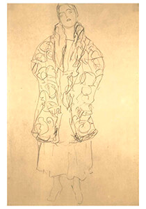 Gustav Klimt (1862-1918) -Staying woman- Postkaart