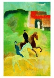 Hendrik Nic.Werkman (1882-1945-Twee ruiters- Postkaart