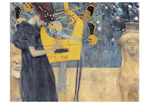 Gustav Klimt (1862-1918) -Musik I, 1895- Postkaart