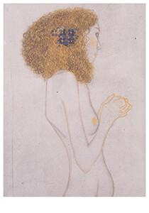 Gustav Klimt (1862-1918) -Die Leiden der schwachen Menschen, 1902- Postkaart