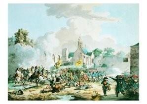 G.J.J.van Os (1782-1861) -Bataille bij Berge- Postkaart