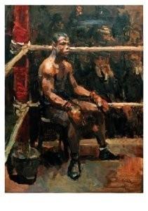 Isaac Israels (1865-1934) -De negerbokser- Postkaart