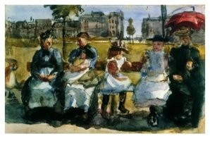 Isaac Israels (1865-1934) -Op de bank- Postkaart