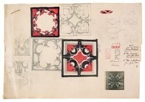 Louis Bogtman (1900-1969) -Ontw. Schetsblad- Postkaart