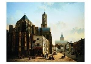 Jan Hendrik Verheyen 1778-1846-Gezicht op het k- Postkaart