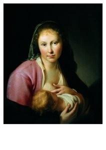 Hendrick Bloemaert (1602-1672)-Maria met Kind- Postkaart