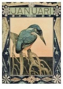 Theo van Hoytema 1863-1917 -IJsvogel, kalen- Postkaart