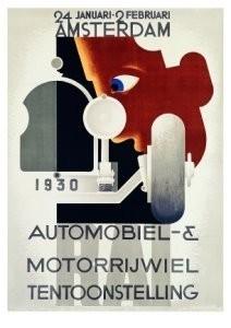 A.M.Cassandre(1901-1968) -Rai Automobiel en Mo- Postkaart