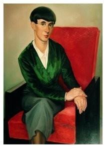Hanna Hoch (1889-1979) -Portret Hannah Hoch- Postkaart