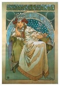 Alphons Maria Mucha (1860-1939-Princess Hyacintha- Postkaart