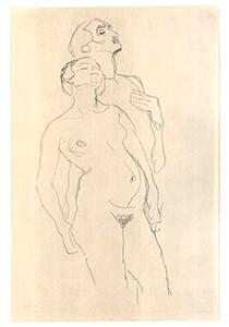 Gustav Klimt (1862-1918) -Staying lovers- Postkaart