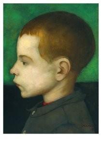 Jan Mankes (1889-1920) -Jongensportretje- Postkaart