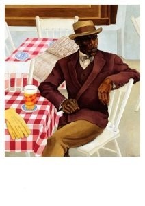 Nola Hatterman (1899-1984) -Op het terras- Postkaart