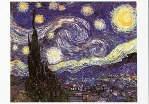 Vincent van Gogh (1853-1890) -Starry night, 1889- Postkaart