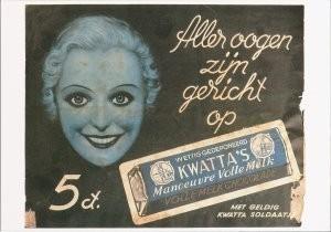 Anoniem, -Aller oogen zijn gericht op, ca. 1925- Postkaart