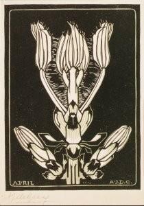 Julie de Graag (1877-1924) -Kastanje/April, 1918- Postkaart