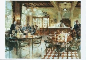 Peter Hartwig (1963) -Cafe Krul, 1999- Postkaart