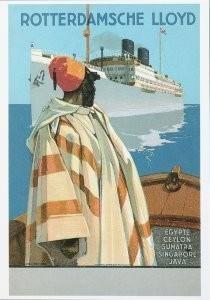 Dio Rovers (1896-1990) -Prentbriefkaart naar een scheepsaffiche ca. 1924- Postkaart