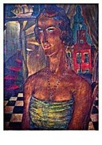 Reimond Kimpe (1885-1970) -Damesportret Middelburg- Postkaart
