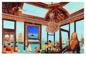 Harald Vlugt (1957) -Blue Room- Postkaart