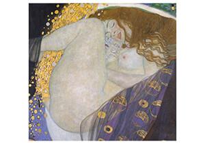 Gustav Klimt (1862-1918) -Danae, 1907- Postkaart