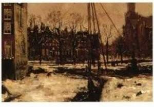 George H. Breitner (1857-1923)-Doorbraak Raadhu- Postkaart
