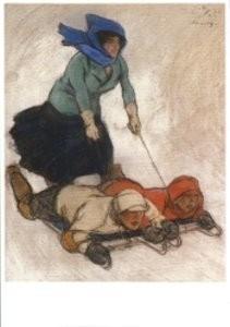 Willy Sluiter (1873-1949) -St. Moritz- Postkaart