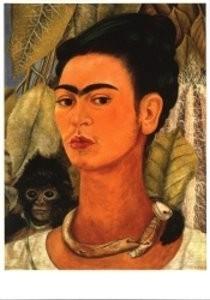 Frida Kahlo (1907-1954) -Selfportrait with mon- Postkaart