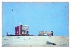 A.Warners -Woonhuis aan zee- Postkaart