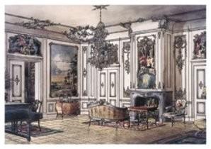M.van Nieukerken -Salon kastee- Postkaart