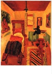 Jan Wiegers (1893-1959) -Slaapkamer van Kirc- Postkaart
