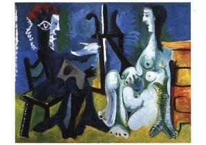 Pablo Picasso (1881-1973) -Schilder en Model- Postkaart