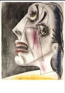 Pablo Picasso (1881-1973) -Huilende kop V- Postkaart