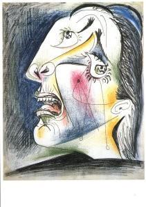 Pablo Picasso (1881-1973) -Huilende kop VI- Postkaart