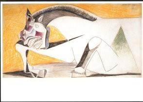 Pablo Picasso (1881-1973) -Studie voor paard- Postkaart