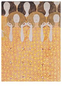 Gustav Klimt (1862-1918) -Chor der Paradiesengel, 1902- Postkaart