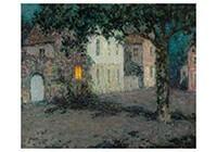 Henri le Sidaner (1862-1939) -Pleintje te Cherbourg bij- Postkaart