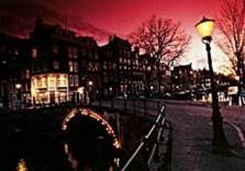 Tim Killiam (1947-2014) -Evening in Amsterdam- Postkaart