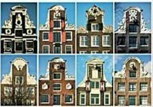 Tim Killiam (1947-2014) -Eight neck-gables (halsgevels), Amsterdam- Postkaart