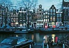 Igno Cuypers -Amsterdam by night / Hijgend Hert- Postkaart