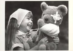 James Barlow -On the mend ...toy hospital- Postkaart