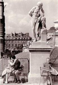 Fred Brommet (1924-2008) -Jardin du Luxembourg, Paris 1956- Postkaart