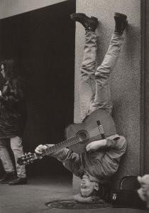 John Blanding -Upside Down Gitarist- Postkaart