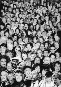Dixie Solleveld -A'dam zwart-wit- Postkaart