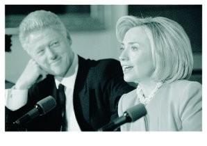 Roger Richards -Bill&Hillary- Postkaart