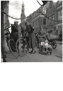 Maria Austria (1915-1975) -Alkmaar, Langestraat, 1954- Postkaart