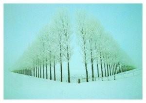 Martin Kers (1944) -Reiderwolderp. Winter- Postkaart