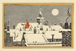 Anoniem, -Op het dak- Postkaart