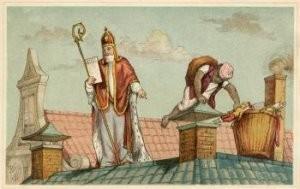 Anoniem -Op het dak- Postkaart